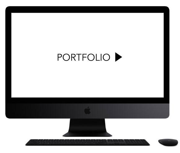 Portfolio op iMac van Same Same