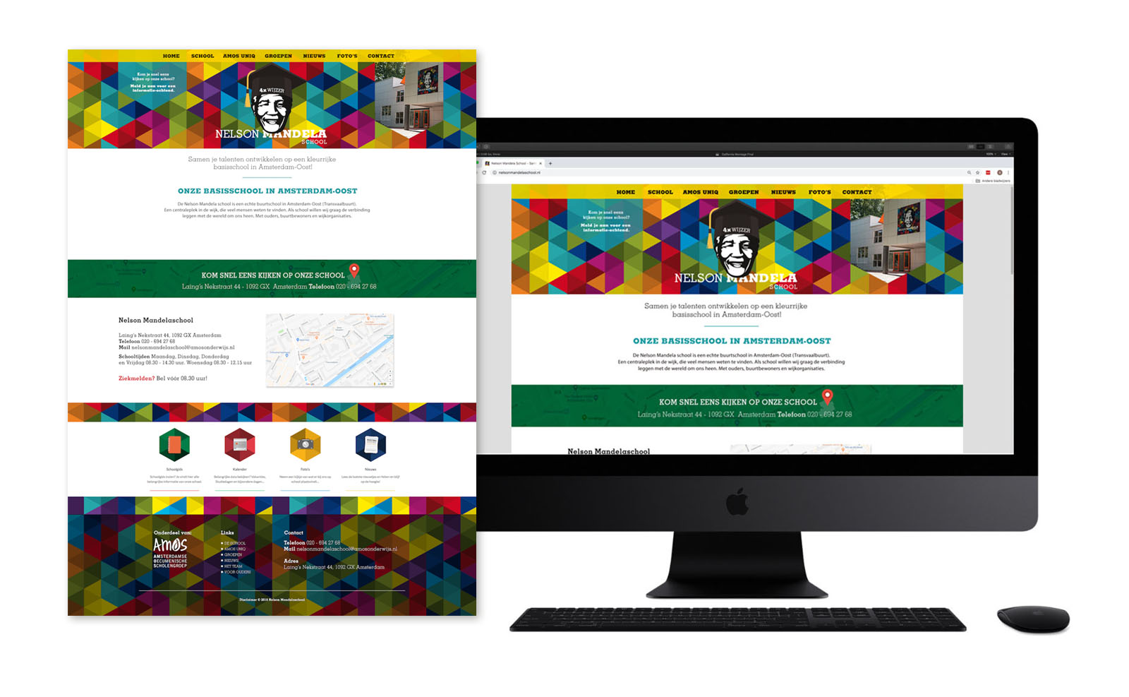 Website Nelson Mandela School